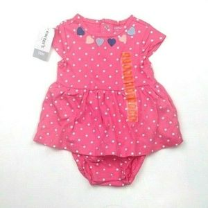 NWT Baby Girl 12 Months Carter's Body Suit